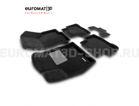 Текстильные 3D коврики Euromat3D Business в салон для Audi Q3 (2020-) № EMC3D-001115