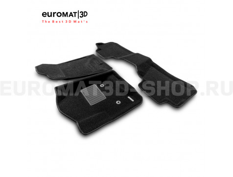 Текстильные 3D коврики Euromat3D Premium в салон для Cadillac Escalade (2015-2021) № EMPR3D-001306