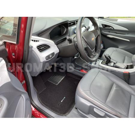 Текстильные 3D коврики Euromat3D Lux в салон для Chevrolet Bolt (2016-) № EM3D-001500