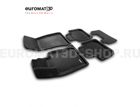 3D коврики Euromat3D EVA в салон для Bmw 6 GT (G32) (2017-) № EM3DEVA-001207