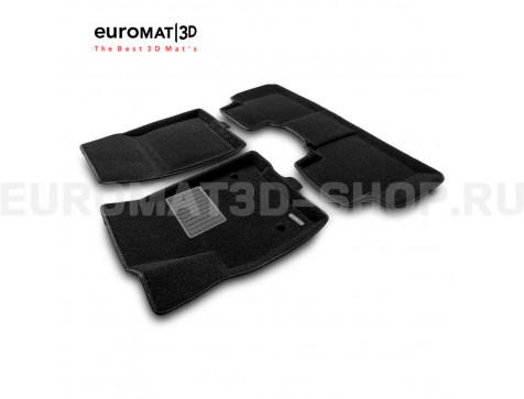 Текстильные 3D коврики Euromat3D Business в салон для Cadillac XT6 (2021-) № EMC3D-001307