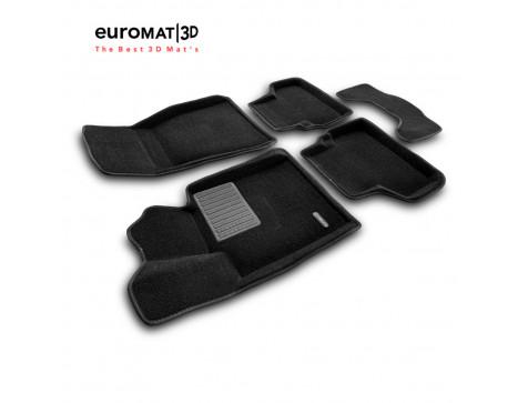 Текстильные 3D коврики Euromat3D Premium в салон для Bmw 5 G30 (2017-) № EMPR3D-001219
