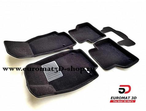 Текстильные 3D коврики Euromat3D Premium в салон для Audi A6 (2019-) № EMPR3D-001111