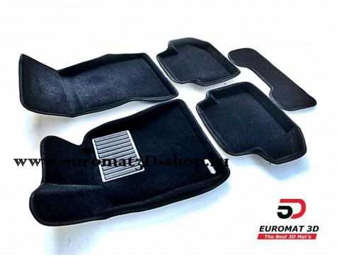 Текстильные 3D коврики Euromat3D Business в салон для Bmw 5 (F10) (2014-2016) № EMC3D-001218