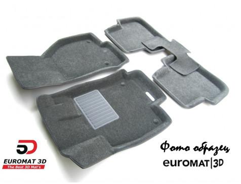 Текстильные 3D коврики Euromat3D Business в салон для Bmw 4 (F32/33) (2012-) № EMC3D-001221G Серые